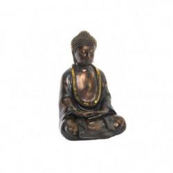 Figurine Bouddha en résine - 16 x 13 x 24 cm - Finition mat