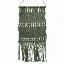 Tissage / Suspension murale Macrame - 45 x 50 cm - Vert clai
