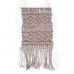 Tissage / Suspension murale Macrame - 45 x 50 cm - Violet cl