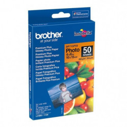 BROTHER Papier photo - Blanc brillant - 100x150mm - 50 feuil