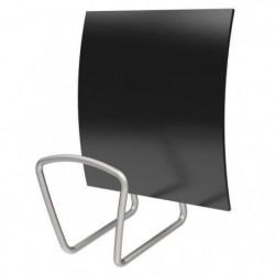 ALBA Patere magnétique carrée - Noir - 13,7 cm