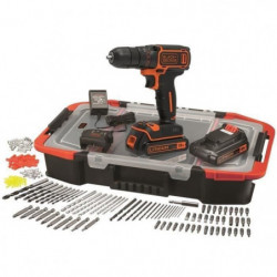 BLACK & DECKER Perceuse sans fil Lithium 18 V - 2 batteries