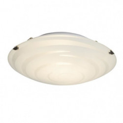 BRILLIANT Applique en verre Melania - Blanc motif spirale