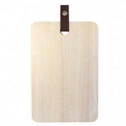 ECO DESIGN A1505 Planche a découper avec laniere cuir 20 x 3