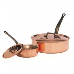 BAUMALU Sauteuse + couvercle cuivre - 22 cm