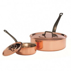 BAUMALU Sauteuse + couvercle cuivre - 24 cm