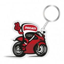 GP MOTORS Porte-clés Ducati Motorbike - Rouge et Noir