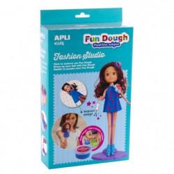 APLI Boite poupée a habiller en pâte Fun Dough - Brune