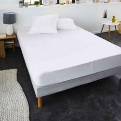 SWEETNIGHT Protege-matelas TOP PRIX 160x200 cm - Blanc