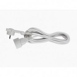 CHACON Rallonge électrique 5m avec fiche plate blanc
