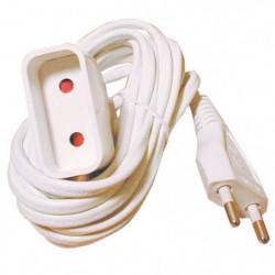 TEC HIT Rallonge électrique 6 A 2x0,75 mm² longueur 2 m