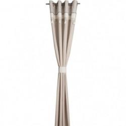DEKOANDCO Rideau avec embrasse Paloma - 135x260 cm -  Pompon