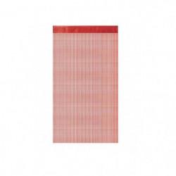 1 Rideau a fils paillettes 90x240cm Rouge