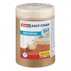 TESA Ruban de masquage + Easy Cover ecoLogo Kraft S, (bâche