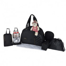 Baby on board - sac a langer- week end team chic in black -s