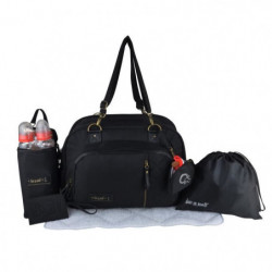 Baby on board - sac a langer- sac daily black - 3 compartime