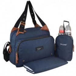 Baby on board-sac a langer -sac titou bleu denim - 2 compart