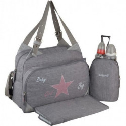 Baby  on board-sac a langer - sac titou stone chiné - 2 comp