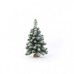 Sapin de Noël artificiel en PVC et ciment - 60 cm - 67 branc