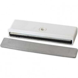 Loqueteau extra-plat - Puissance magnétique : 4 kg - Blanc