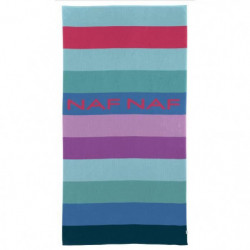 NAF NAF Drap de plage BALBOA - 100% Coton - Multicolore - 80