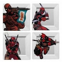 Funko: Marvel Deadpool - Set Assiettes - BANG! - 21 x 21 cm