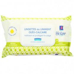 BIOLANE Lingettes bébé au liniment oleo-calcaire