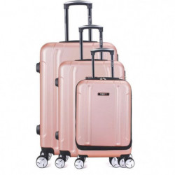 BLUESTAR Set de 3 Valises baltimoreGolden pink