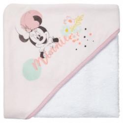 DISNEY Cape de bain 80 x 80 cm Minnie Floral - Capuche Velou