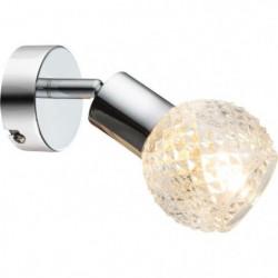 GLOBO LIGHTING Spot chrome - Verre translucide - l8 cm x H15