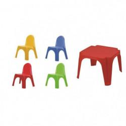 """Set enfant Table + 4 Chaises """"Karen"""" - Multicouleur"""