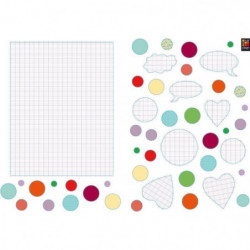 Lot de 2 planches de Stickers adhésif  - Pense pas bete  - 2