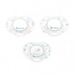 BADABULLE Lot 3 Sucettes Physiologiques et Phosphorescentes