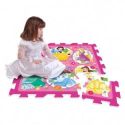 DISNEY PRINCESSES Tapis Puzzle Mousse 9 Pieces Avec Sacoche