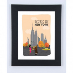 Image encadrée Music in New-York - 47 x 57 cm