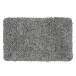 CACHOU Tapis 100% polyester - 50x80 cm - Gris - Toucher moel