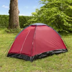 Tente de camping Dôme - 2 places - Rouge