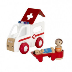 BRIO - My Home Town - Ambulance Son Et Lumiere - Jouet en bo