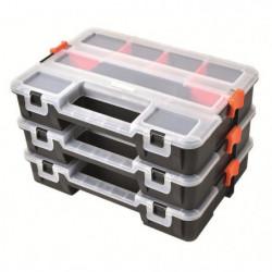 TOOD Lot de 3 mallettes clipsables / organiseurs en plastiqu