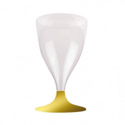 Lot de 6 verres a eau ou a vin jetables 20 cl or
