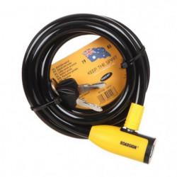 ROADSIGN Antivol spiral + clé - L 1800 x Ø12 mm