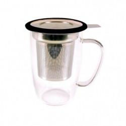 YOKO DESIGN Mug tastea en verre avec filtre inox coupelle 91646