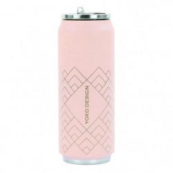 YOKO DESIGN Canette isotherme Art déco - Rose - 500 ml