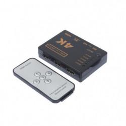APM 590116  Switch HDMI - 5 entrées 1 sortie avec télécommande