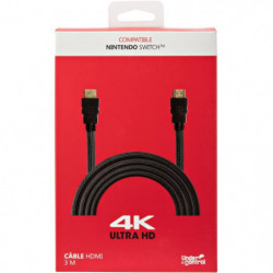 Câble HDMI 4K UlTRA HD 3 m noir Nintendo Switch