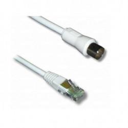 LINEAIRE TVRJG Câble antenne RJ45 mâle / coaxial 9,5mm mâle