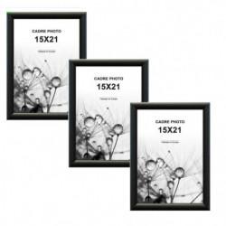 TRIO Lot de 3 cadres photos 15x21 cm Noir mat