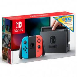 Console Nintendo Switch avec Joy-Con bleu néon et Joy-Con