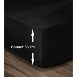 LOVELY HOME Drap Housse 100% Coton 140x190cm - Bonnet 35cm
