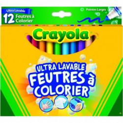 CRAYOLA 12 Feutres de Coloriage Ultra Lavables